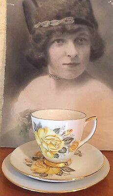 ANTIQUE VINTAGE TRIO CUP SAUCER PLATE CSP HIGH TEA WESTMINSTER AUSTRALIA Rose