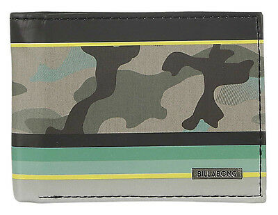 "Brand New + Tag Billabong Mens / Boys Tri-Fold Wallet ""spinner"" Camo"