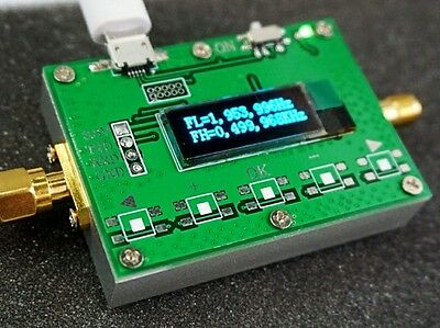 """2019 0.91"""" OLED RF 1Hz-2.4GHz Frequency Counter Meter  Cymometer Tester"""
