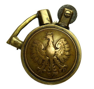 WW2 Trench Art Cigarette Lighter Vintage RAF & Poland Eagle Military Buttons
