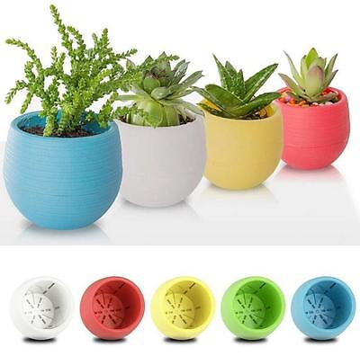 6.5cm New Round Home Garden Office Decor Planter Plastic Plant Flower Pots