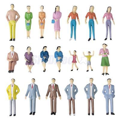 50 Mixed Well Suited People Passengers Figures Model Train Railway Diorama 1:30