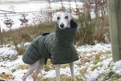 """Waterproof Quilted Whippet Coats with Snood Collar in Various Colours - 19""""- 24"""""""