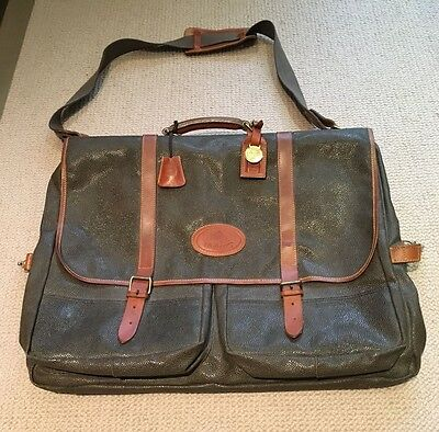 Beautiful Mulberry Leather Suit Luggage Garment Carrier - Vintage, Never Used!