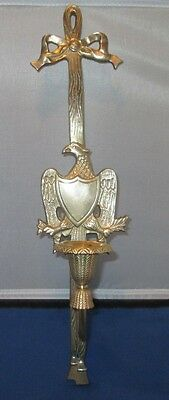 Brass Eagle Sconce with ribbon & tassles for wall