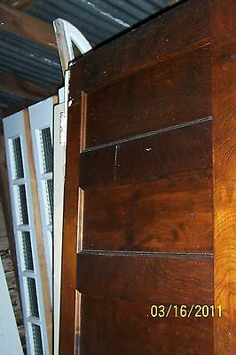 ANTIQUE VINTAGE 6 PANEL FLAT PANEL INTERIOR DOOR  APPROX 28 x 83 STAINED