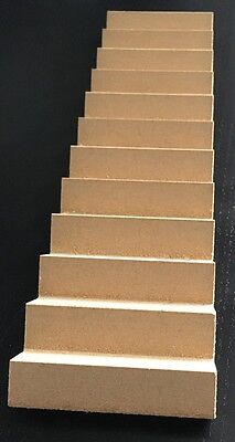 Stairs, Dolls House MDF Staircase, Stair, 1.12 Scale Miniatures, DIY Fixtures