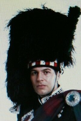 Red/White/Black Diced Feather Bonnet Highland Bagpipe No1 Uniform Ostrich 4 tail