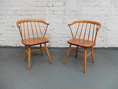 Midcentury Danish Cowhorn Armchairs 2 AVAILABLE SOLD INDIVIDUALLY  (20C886)