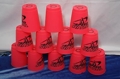 Speed Stacks Set 12 Hot Pink Speed Stacking Cups ONLY