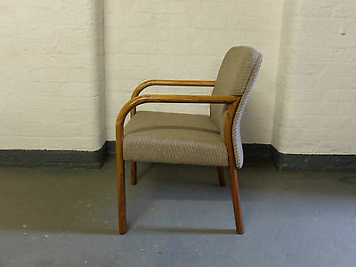 Gordon Russell Rosewood Upholstered Desk Arm Chair Circa 1980  (20C693)