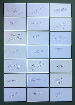 21 England 1966 World Cup Signed 5X3 Cards