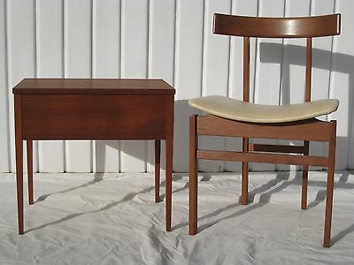 TEAK SEWING BOX TABLE COFFEE TABLE RETRO STUNNING DANISH G PLAN ERA VINTAGE 60s