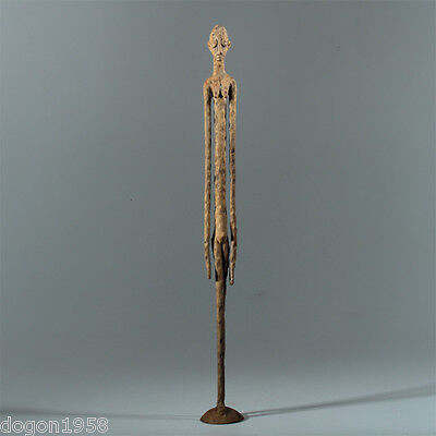 8938 Dogon bronze figure, personnage lost wax Giacometti style