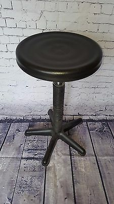 Vintage Retro Atomic Black Adjustable Machinst Industrial Office Stool Seat
