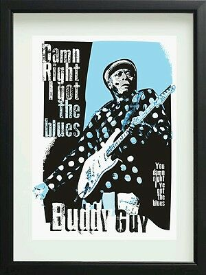 Buddy Guy blues specially designed poster prints unframed