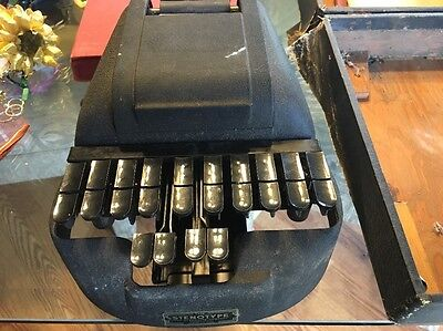 "Vintage ""the Stenotype"" Machine For Court Reporting Patented 1933 With Case"