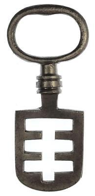 18th/19th Century Odell Steel Latch Key - Edinburgh Tenement / French -  Ref.38