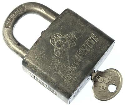 Vintage LAMINETTE Intra-laminated 15/40 German Padlock with Key - My Ref.V16