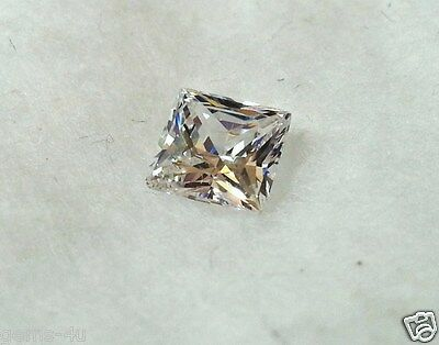 Lab Created Russian Loose 4Mm Princess Cut Diamond Fast & Free Delivery