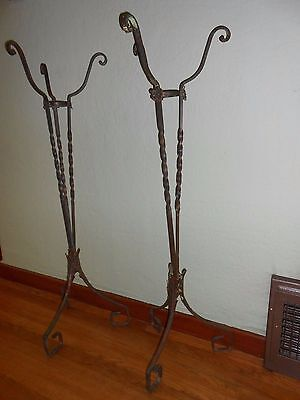 "Pair of 42"" Vintage 1920's Plant Stands"