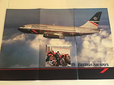 British Airways Vintage Landor Colours Launch Brochure Poster Boeing 737