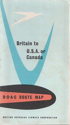 Boac Route Map Britain To Usa Or Canada B.o.a.c.