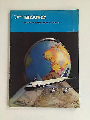 Boac Worldwide Route Maps Booklet Boeing 747 B.o.a.c. 1971