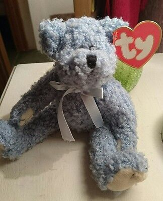 TY Attic Treasures Collection. Bluebeary The Bear With Tags.
