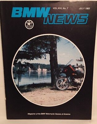 BMW News Magazine BMW Motorcycle Owners Of America July 1983