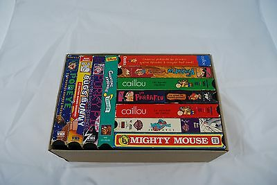Lot 11 VHS for kids french (Caillou, Popeye, etc)