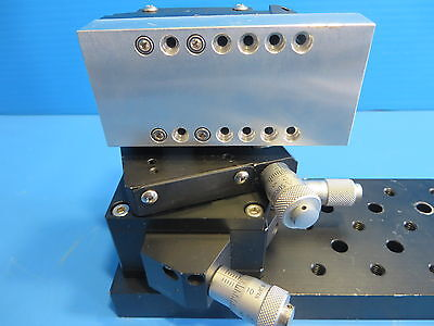 Suruga Seiki B51-60LN Tilt/Rotary Stage & B10-60L X-Axis CrossRoller Guide Stage