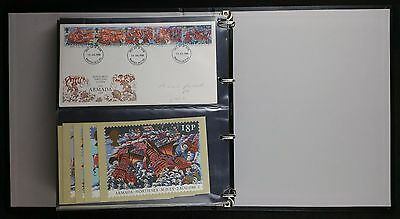 Collection of 24 GB 1980s FDC's With PHQ Card Sets in Black Cover Album