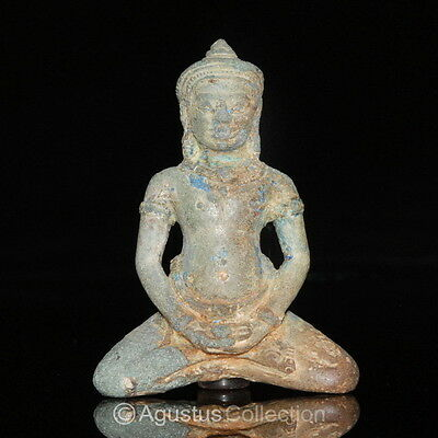 RARE Ancient KHMER Bronze Statue of the BUDDHA 12th Cent. Angkor Period Cambodia • CAD $1,234.80
