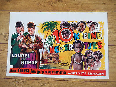 Original 1950 Laurel and Hardy Belgian Movie Poster