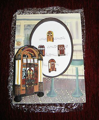 Rare Leonardo Ceramic Juke Box Picture Frame Set