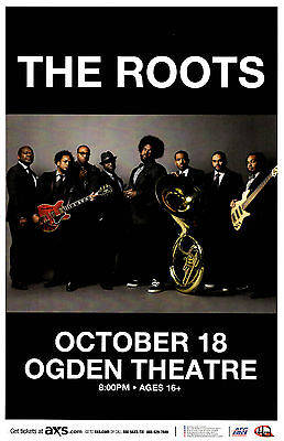THE ROOTS October 18, 2015 Ogden - Denver, Colorado Concert Poster / Gig Flyer