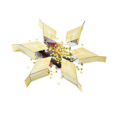 Christmas Day Table Festive Fun Party 6 Point Gold Star Sharing Cracker