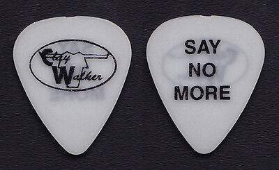 Clay Walker Say No More White Guitar Pick - 2001 Tour