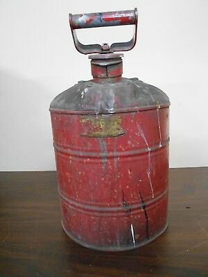 Antique Vintage 2 Gallon? Gas Can With Old Red Paint