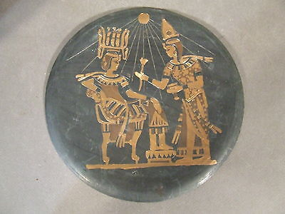 Vintage Egyptian Goddess Copper Hanging Wall Plate