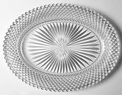 """Anchor Hocking MISS AMERICA CLEAR 12 1/4"""" Platter 6092"""