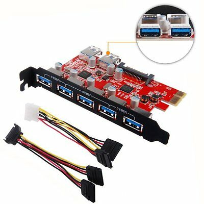 Inateck Superspeed 7 Ports PCI-E to USB 3.0 Expansion Card - Interface USB 3.0 &