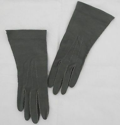 Pinkham green vintage dress gloves with reverse seams