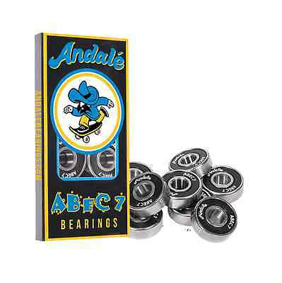 Andale Abec 7 Skateboard Bearings Set Of 8 New Free Delivery Australia Skate New