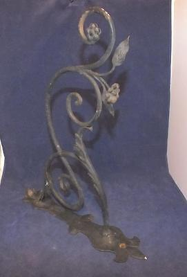 Lg Antique Ornate Wrought Iron Garden Plant Hook