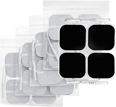 """FDA 40 Replacement Tens Electrode Pads EMS for Units 7000 3000 2x2"""" White Cloth"""