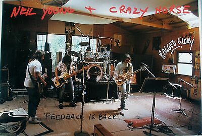 Neil Young Crazy Horse Ragged Glory 1990 Vintage Music Record Store Promo Poster