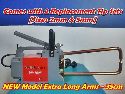 LONG ARM 35CM Portable 240V Spot Welder + 2 Welding Tip Sets(2mm & 5mm)+Warranty