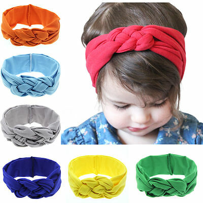 Fashion Little Girl Toddler Baby Bohemia Solid Hair Band Headband Accessories